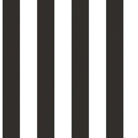 טפט פסים ברוחב בינוני שחור לבן