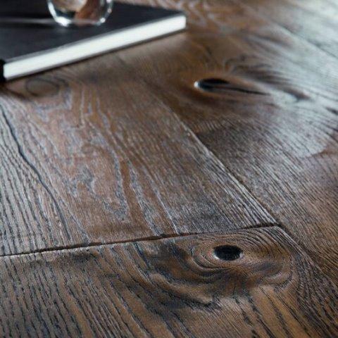 פרקט עץ תלת שכבתי בוהן רסטיק כהה