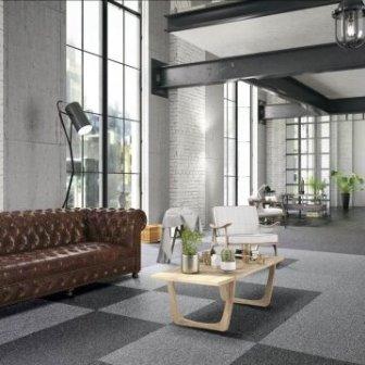 אריחי שטיחים בשילוב צבעים שחור אפור