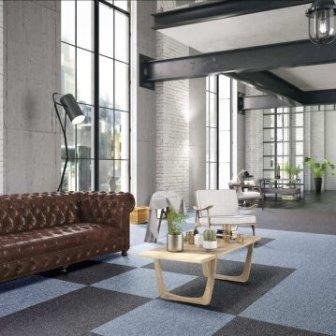 אריחי שטיחים בשילוב צבעים
