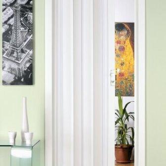 דלת הרמוניקה בצבע לבן