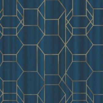 טפט גאומטרי כחול רויאל
