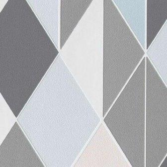 טפט גאומטרי משולשים כחול אפור
