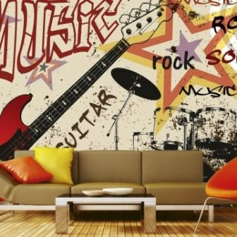 טפט דיגיטלי גיטרה אדום