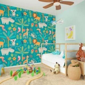 טפט דיגיטלי לילדים אריה והיפופוטם