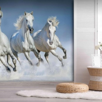 טפט דיגיטלי סוסים לבנים