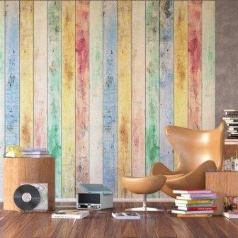 טפט דיגיטלי קורות עץ צבעוניות