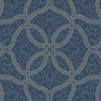 טפט קלאסי כחול ירוק