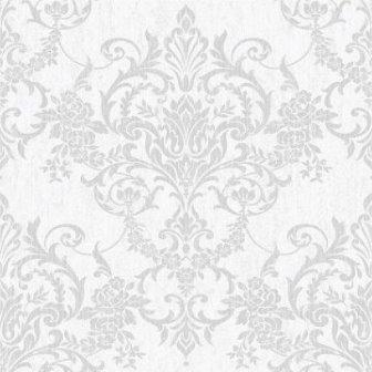 טפט קלאסי מדליון אפור לבן