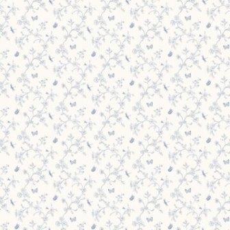 טפט קלאסי פרחים וינטר כחול