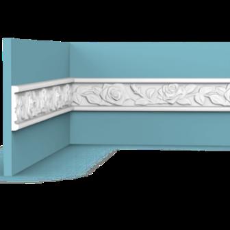 סרגל הפרדה אמצע קיר ורדים 2689