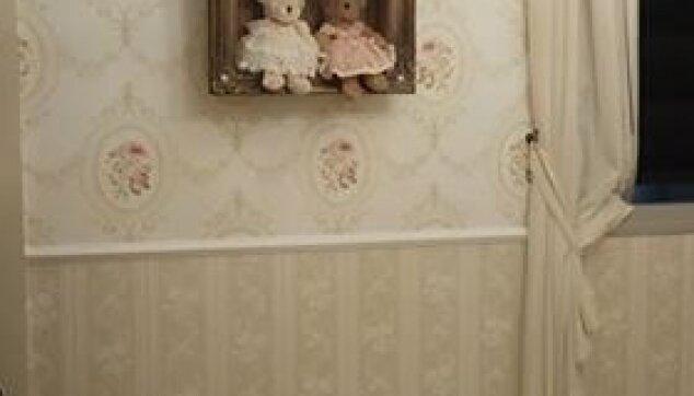 טפט-וינטג-עם-קרניז-באמצע-הקיר