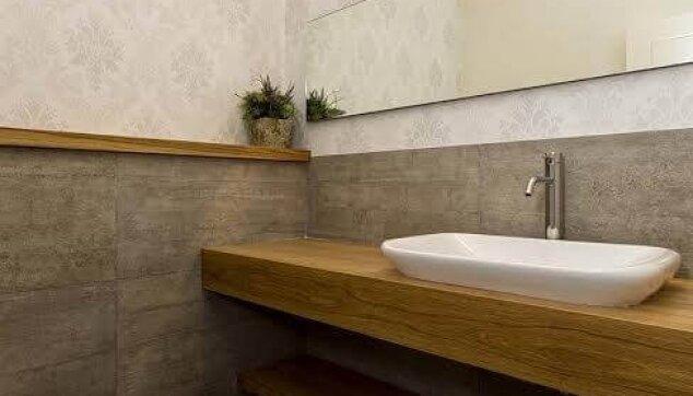 טפט מעוצב בשירותי אורחים - אדריכלית רוני באריל צילום נדב פקט