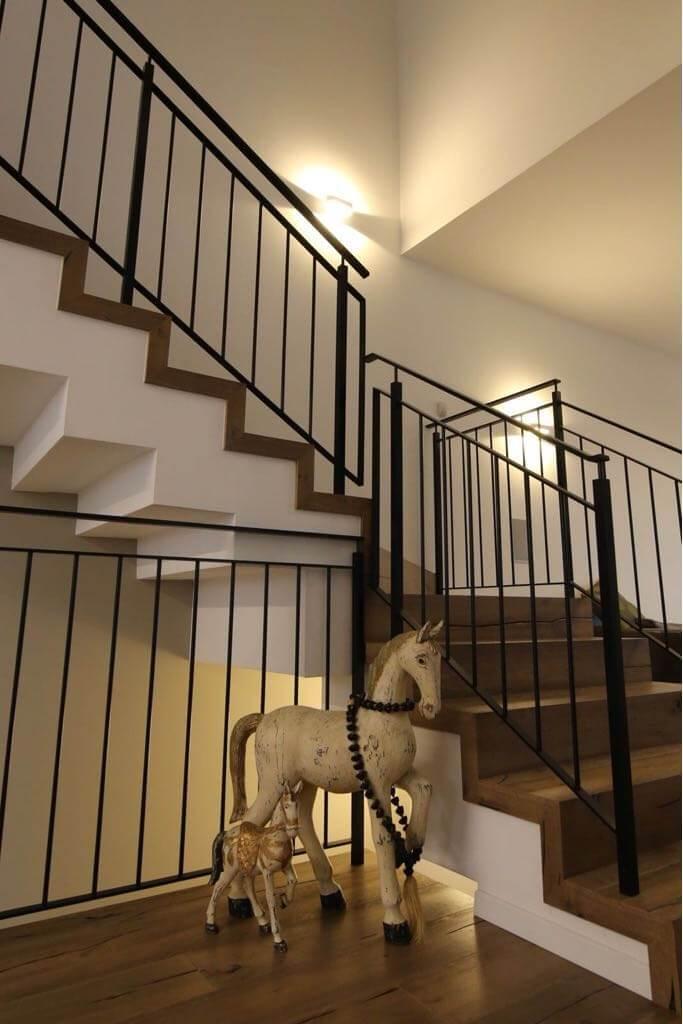 התקנת פרקט על גבי מדרגות מבט צד