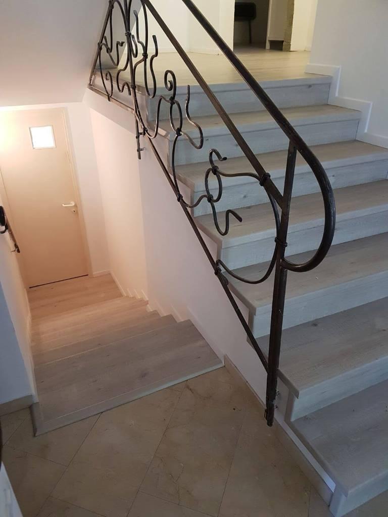 פרקט למינציה על גבי מדרגות ביבת פרטי